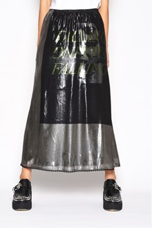McQ ALEXANDER McQUEEN Silk skirt with print and silver color