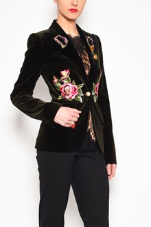 DOLCE & GABBANA Suede embroidered jacket with applications
