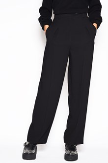 McQ ALEXANDER McQUEEN Viscose cropped high waisted pants with pockets