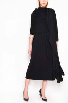 MAISON MARGIELA turtle neck long dress with scarf
