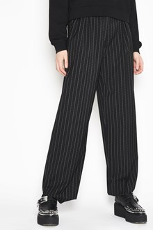 McQ ALEXANDER McQUEEN High wasit pants with wide legs and stripes
