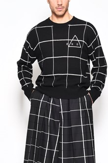 McQ ALEXANDER McQUEEN Wool cashmere crewneck 'End gring' sweater with abstract color