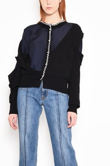 MAISON MARGIELA Destroyed cardigan with pearls
