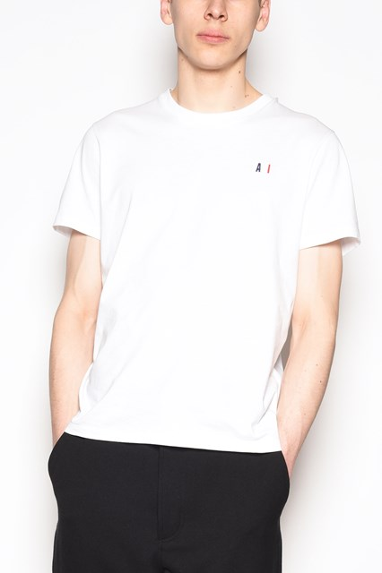 AMI ALEXANDRE MATTIUSSI 'Red family' cotton t-shirt