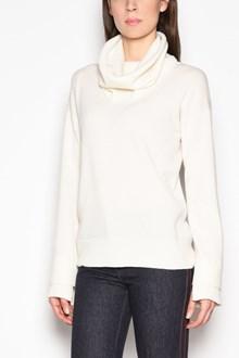 AGNONA Cashmere turtleneck  sweater  with double edges details