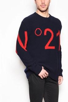 N°21 'Logo' inlaid crew-neck jersey