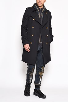 DOLCE & GABBANA Coat with gold buttons and belt