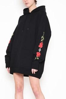 MARCELO BURLON - COUNTY OF MILAN Hooded oversize sweatshirt with 'Chakras' printed sleeves