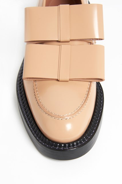 MARNI Laced leather shoes with bows and without laces