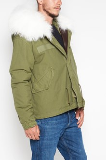 MR & MRS ITALY Army ' mini parka ,with Army quilt lining ,hood with Murmasky ,hem in tone