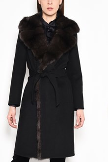 SIMONETTA RAVIZZA 'Michigan' coat with sable fur collar and edges