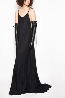 ANN DEMEULEMEESTER Long sleeveless oversize dress with curled collar