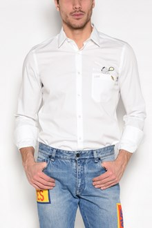FENDI Embroidered pocket cotton shirt
