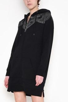 MARCELO BURLON - COUNTY OF MILAN Hooded, zipped 'Kellan' printed long sweatshirt