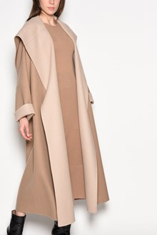 AGNONA Cape collar coat with revers breast and cuffs