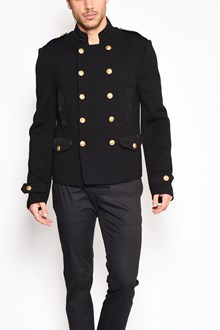 DOLCE & GABBANA Double breasted jacket with gold buttons and jaquard details
