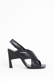 MARNI Leather sandal with crossed bands