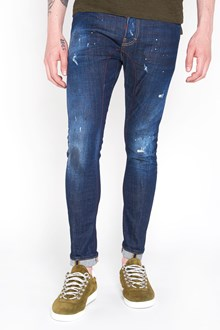 DSQUARED2 Spots wash denim jeans with red line