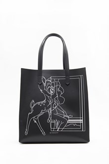 GIVENCHY 'Stargate' medium leather shopping bag with 'Bambi' print and clutch