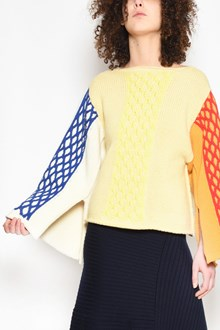 J.W.ANDERSON 'Cable knit' multicolor jersey with splits on sleeves