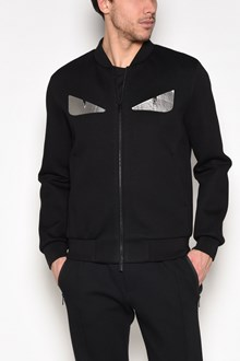 FENDI Eyes printed fleece jacket