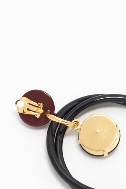 MARNI Resin circle earrings
