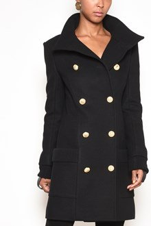 BALMAIN double-breasted long trench