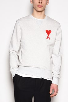 AMI Embroidered crew-neck sweatshirt