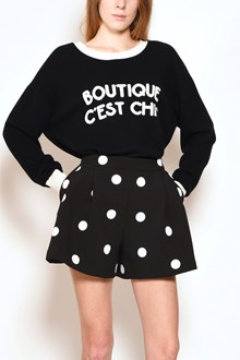 BOUTIQUE MOSCHINO Oversize sweater with contrast logo