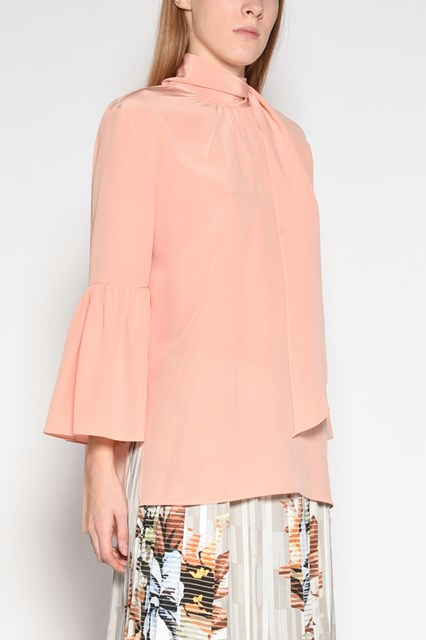 FENDI Oversize shirt with headscarf and buttons on the back