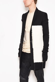 RICK OWENS 'Glitter moreau peacot' with insert