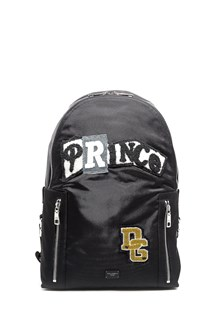 DOLCE & GABBANA Nylon zipped backpack with 'Prince' patch