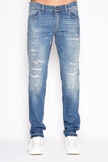 DOLCE & GABBANA 'Classic' denim destroyed jeans. Crutch17