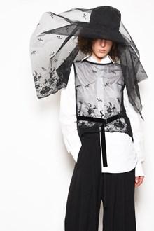 ANN DEMEULEMEESTER 'Mildered' vest with tulle insert