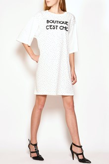 BOUTIQUE MOSCHINO Printed studded cotton t-shirt dress