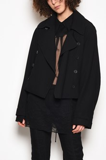 ANN DEMEULEMEESTER Double-breasted jacket with ribbon on the back