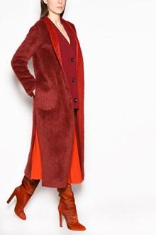 AGNONA Long Alpaca wrap coat with belt closure