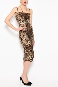 DOLCE & GABBANA 'Leopard' all over printed stretch cady 'Bustier' dress