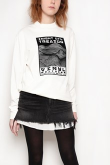 ALEXANDER WANG 'Boxy' crew-neck sweatshirt with 'Night of treason' print