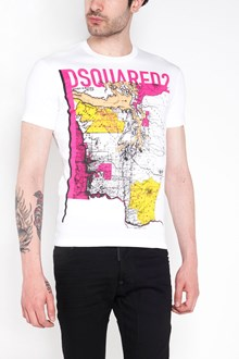 DSQUARED2 'Map chic' printed cotton t-shirt