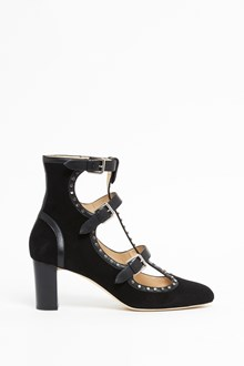 JIMMY CHOO Leather studded socket with buckles