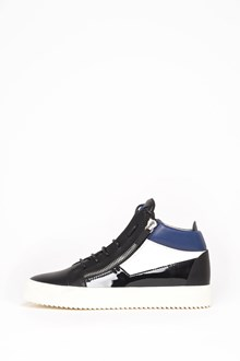 GIUSEPPE ZANOTTI DESIGN Leather high-top 'May London' sneaker with zipper and silver accents