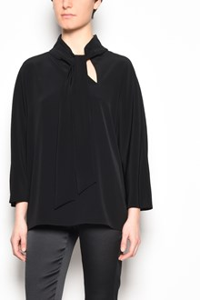 GIANLUCA CAPANNOLO 'Judy bow top' 3/4 sleeves satin blouse with bow