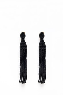 OSCAR DE LA RENTA Glass earrings with tassel