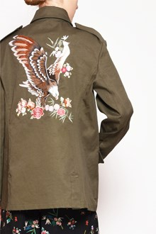REDVALENTINO Parka with 'Flowers' embroidery in front and 'Eagle' embroidery on the back