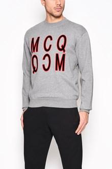 McQ ALEXANDER McQUEEN Cotton crewneck sweater with 'MCQ' print
