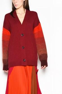 AGNONA Buttons and  Alpaca sleeves cardigan