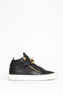 GIUSEPPE ZANOTTI DESIGN Leather sneaker with gold zip and details