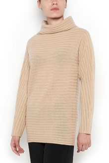 MAX MARA 'Galoche' turtle-neck striped cashmere jersey