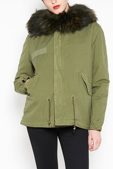 MR & MRS ITALY Canvas mini parka ,dyed lapin lining,hood with Murmasky ,hem in tone